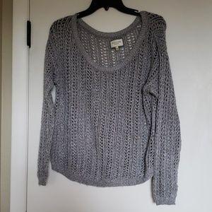 Shiny Silver Knit Sweater